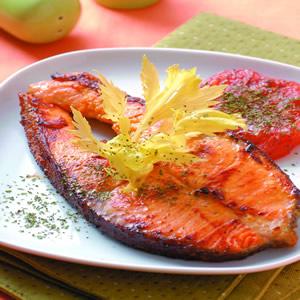香煎柳橙芥末鮭魚