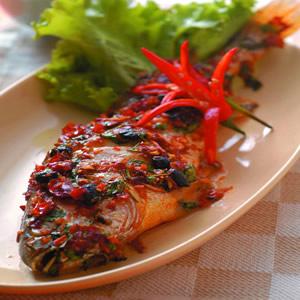 鼓汁烤黃魚