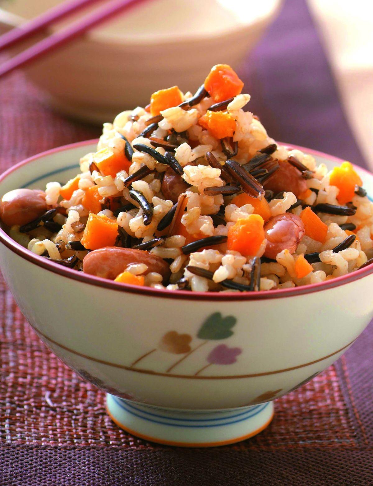 食譜:花豆地瓜飯