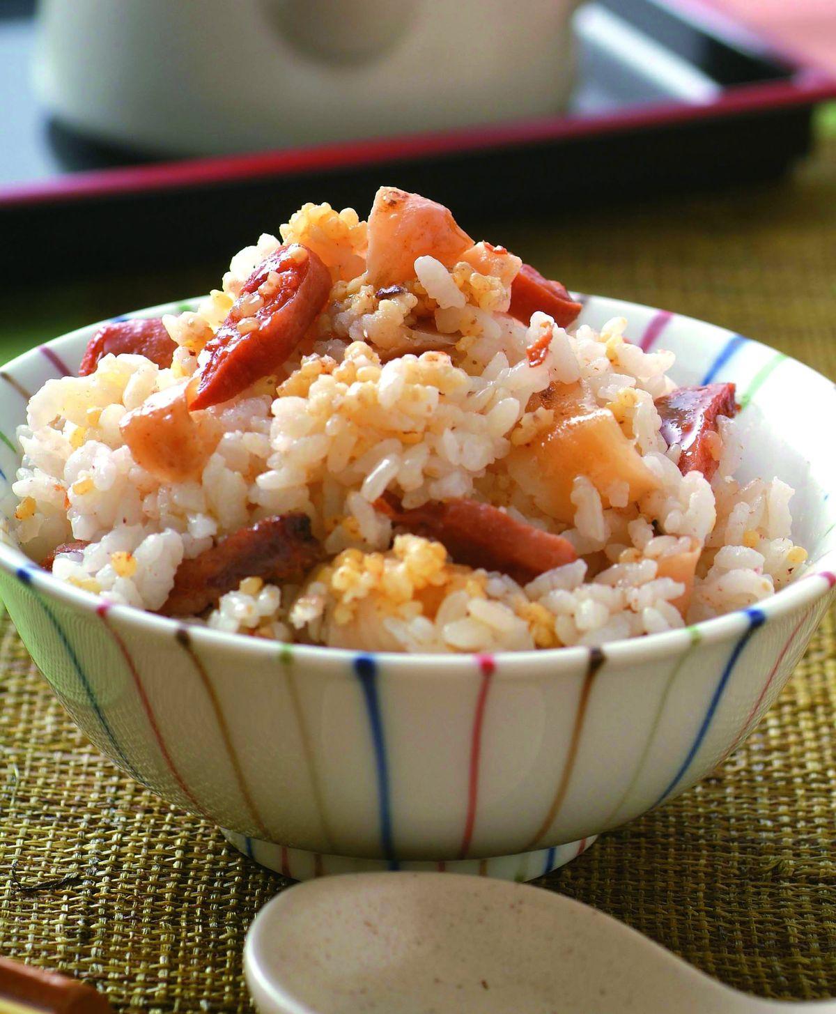 食譜:百合柿乾飯