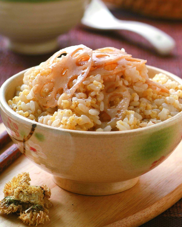食譜:菊花蓮藕飯