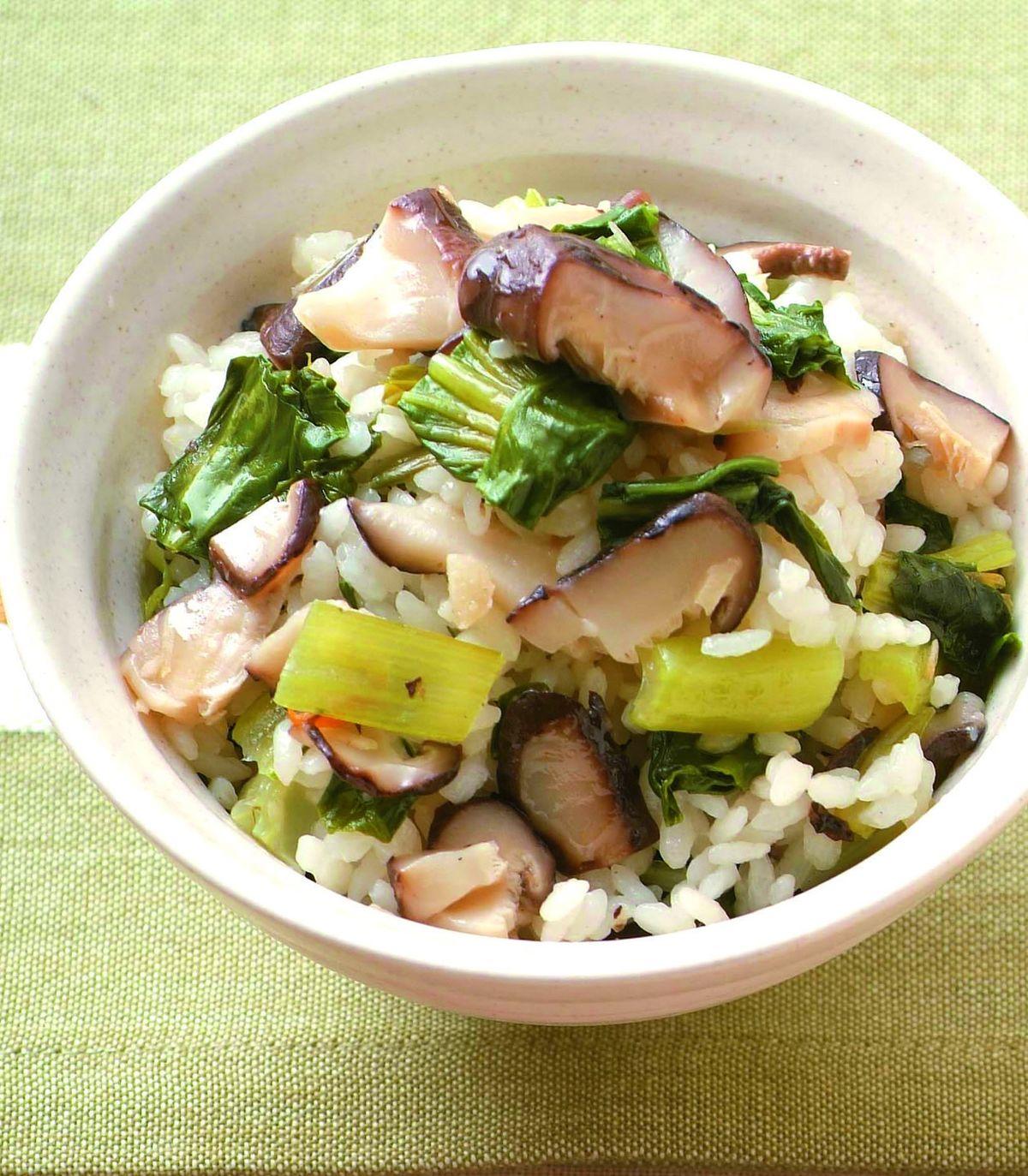 食譜:香菇青菜飯