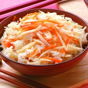 竹筍紅蘿蔔飯