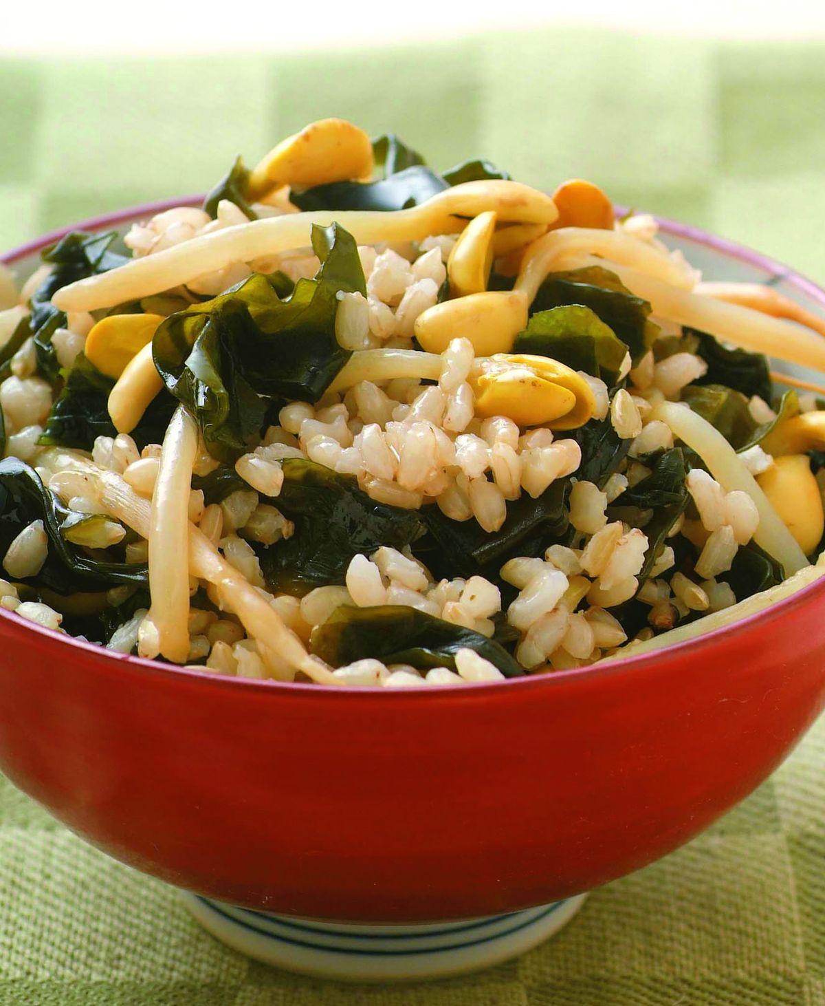 食譜:豆芽海苔飯