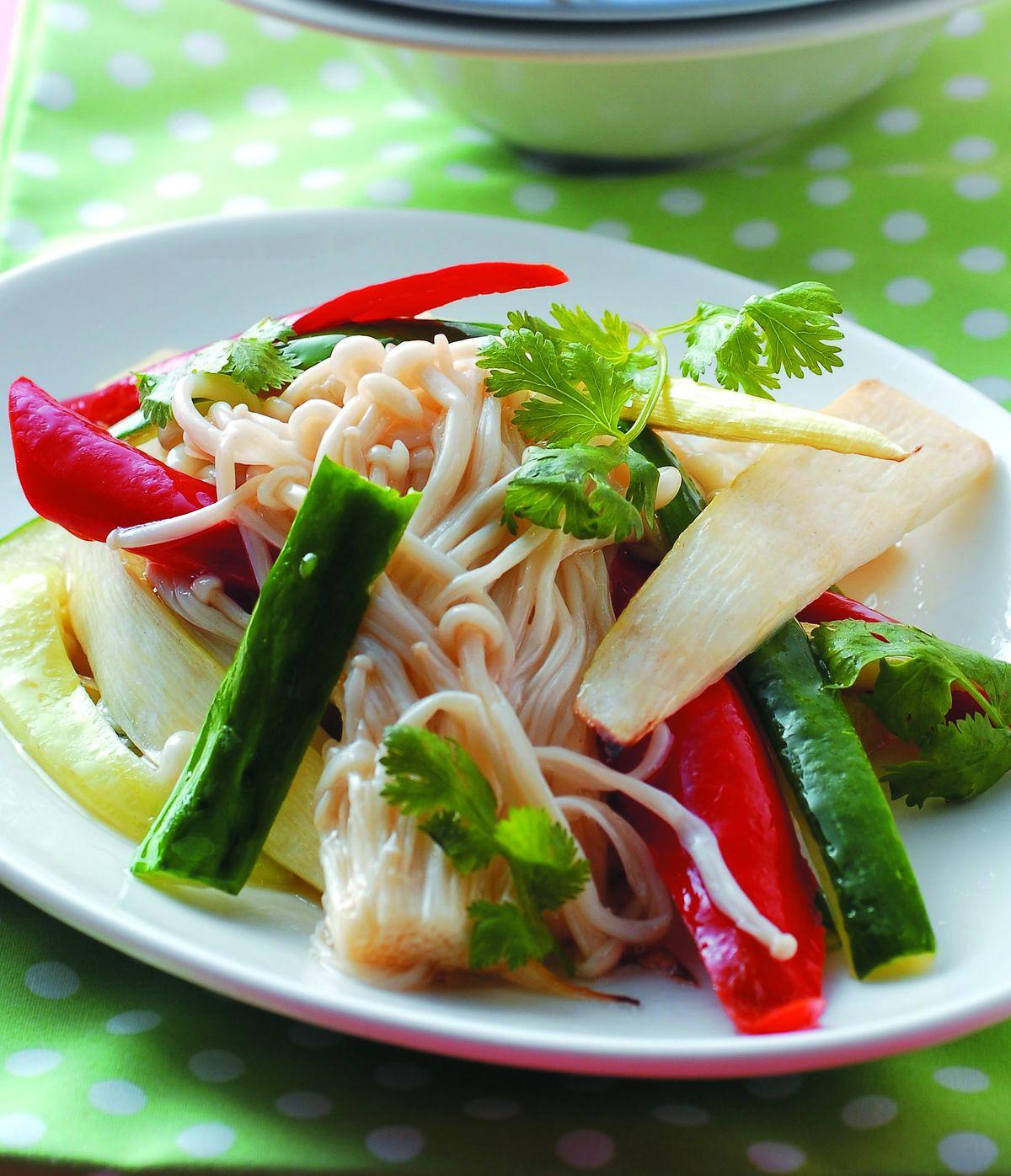 食譜:金針菇炒黃瓜