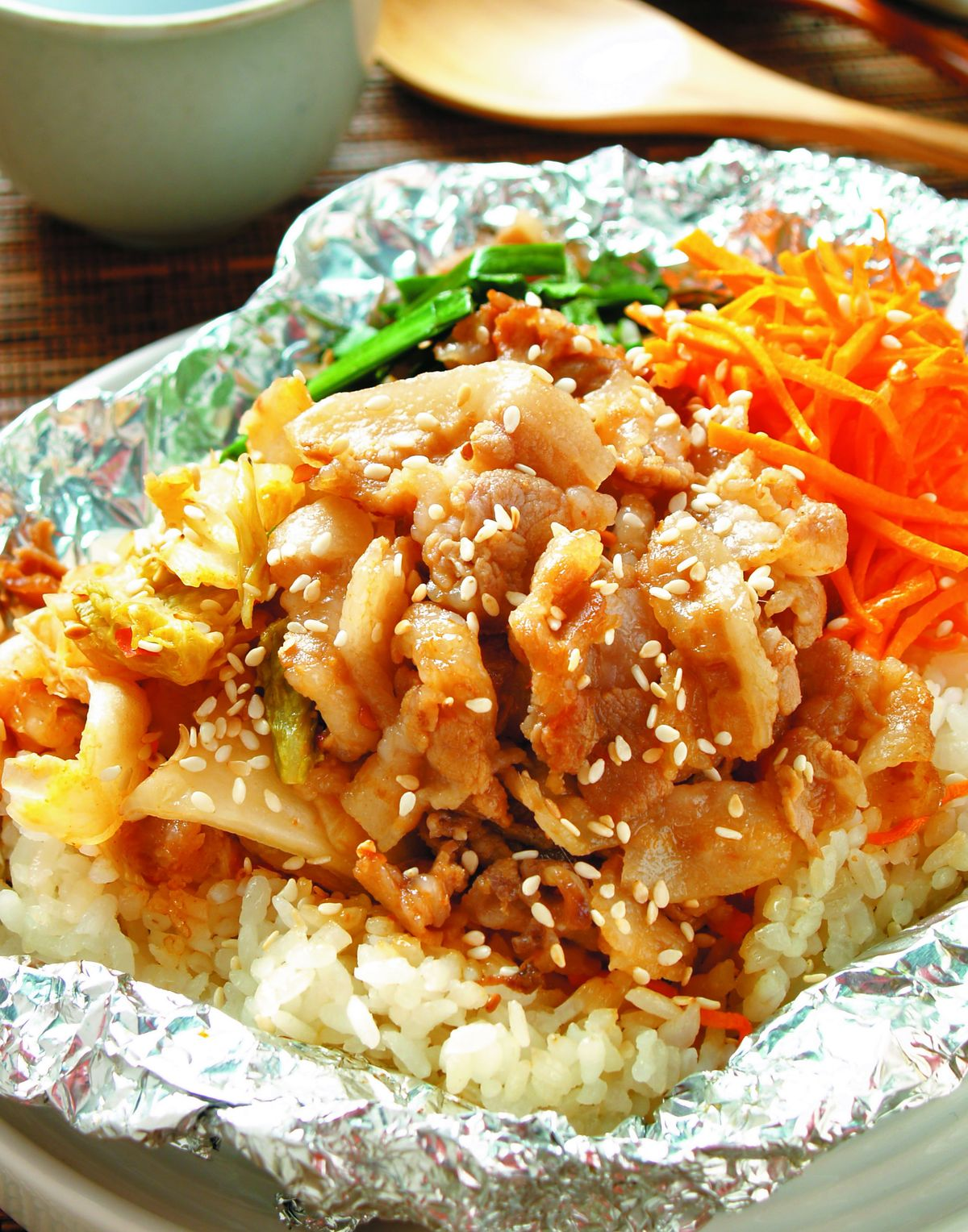 食譜:鋁燒-韓式烤飯