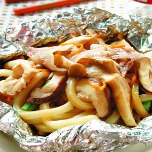 鋁燒-鮮菇燒烏龍