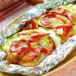 鋁燒-櫻花蝦高麗菜燒