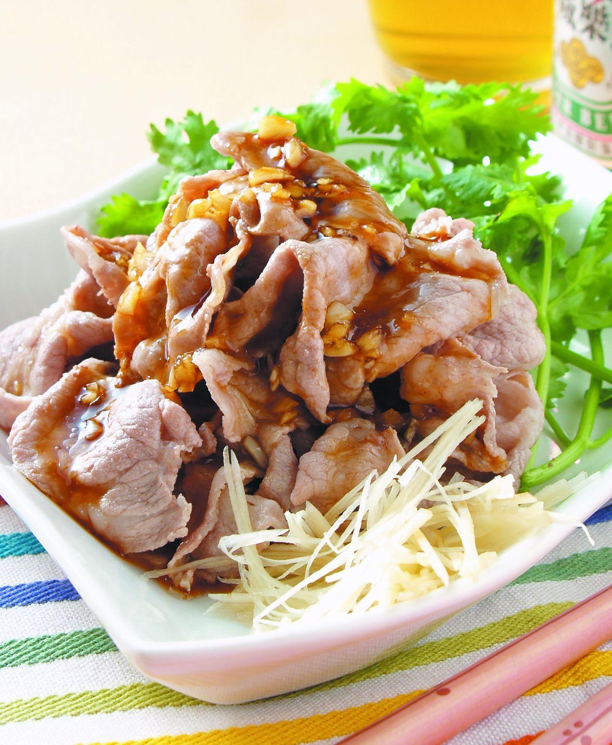 食譜:蒜茸肉片