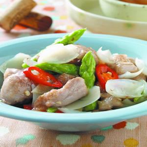 百合蘆筍雞