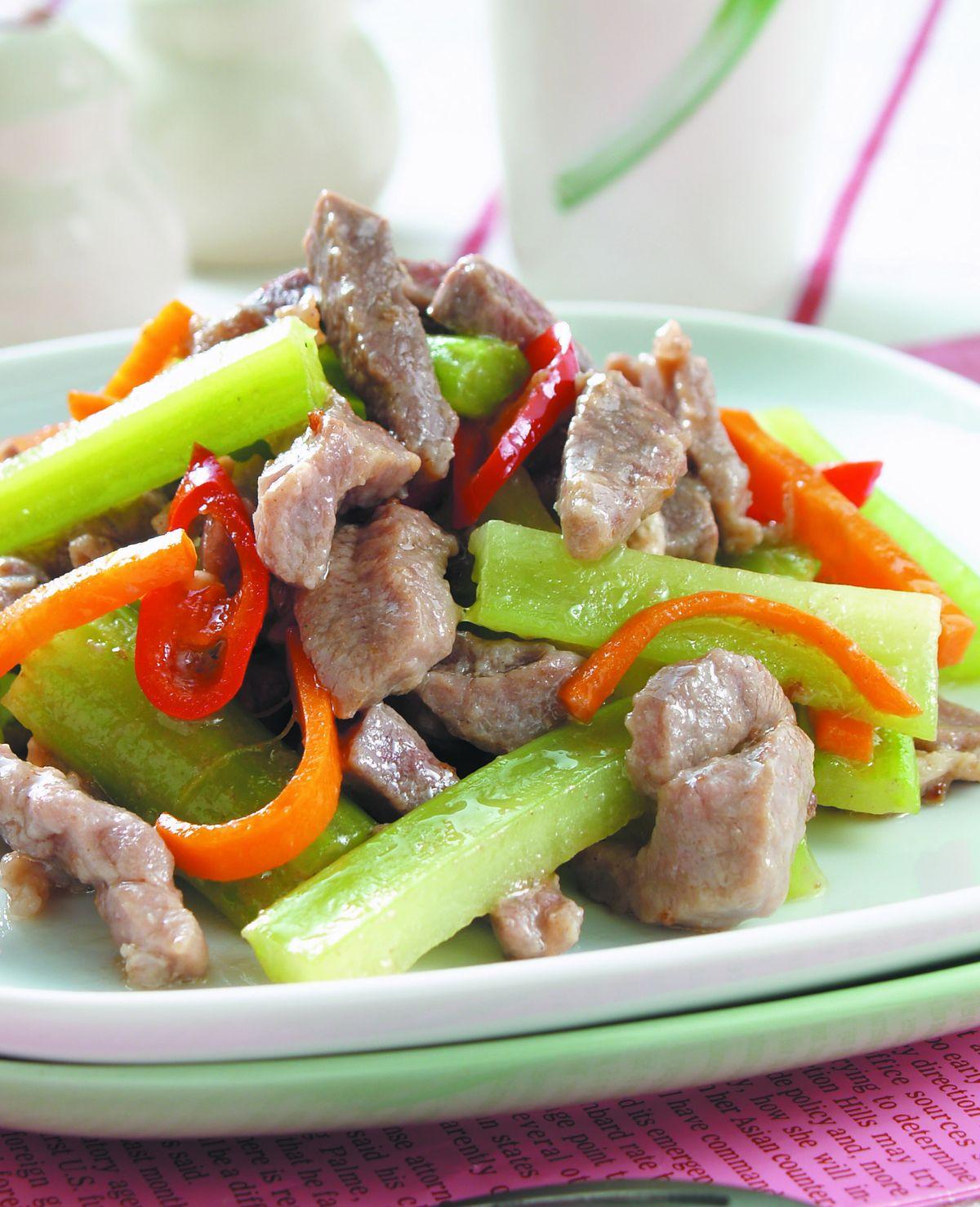 食譜:西芹牛肉