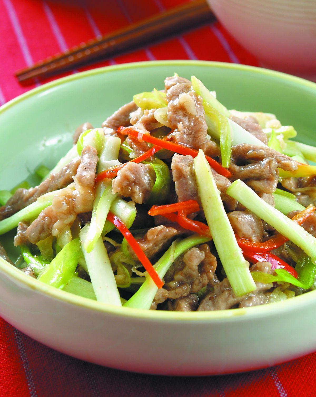 食譜:韭黃牛肉(1)