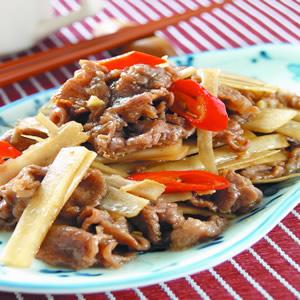 牛肉炒牛蒡(1)