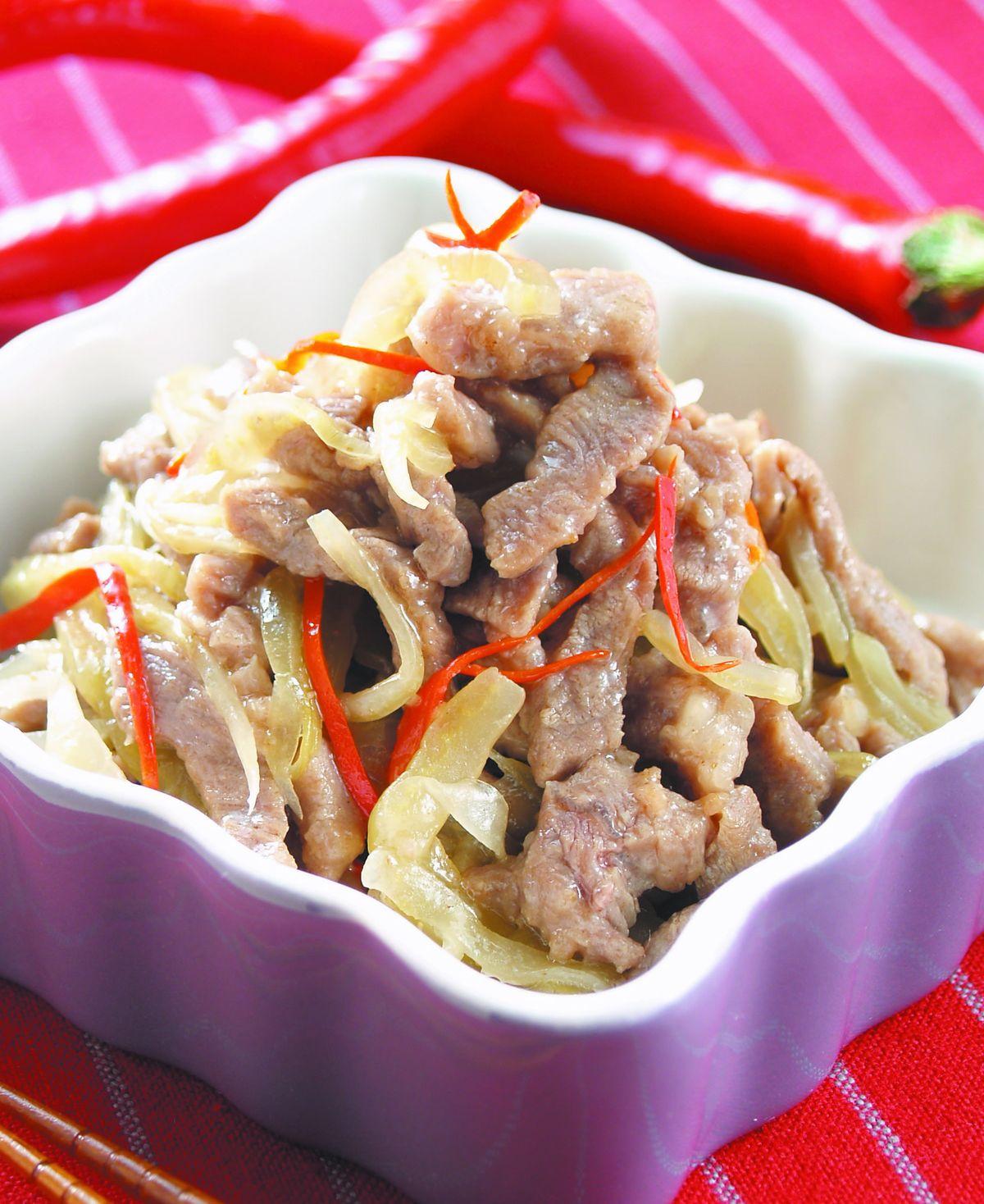 食譜:酸菜牛肉絲