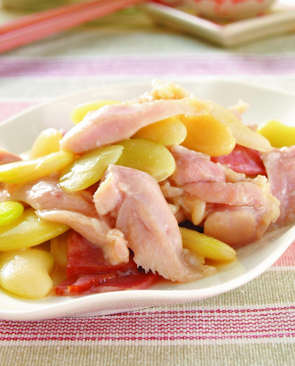 食譜:雞片炒皇帝豆