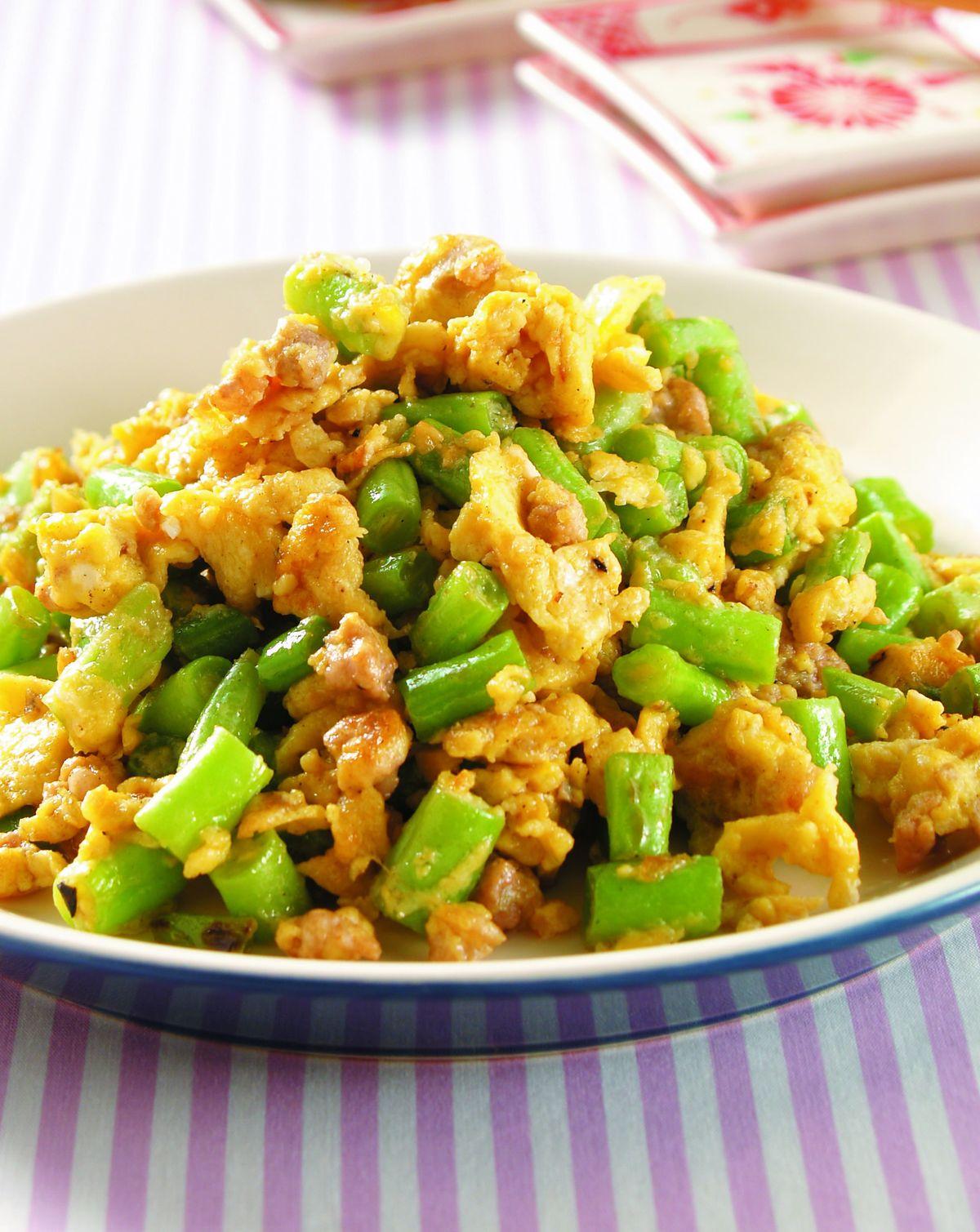 食譜:四季豆炒蛋