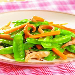 碗豆炒魷魚