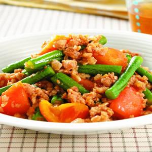 長豆炒蕃茄