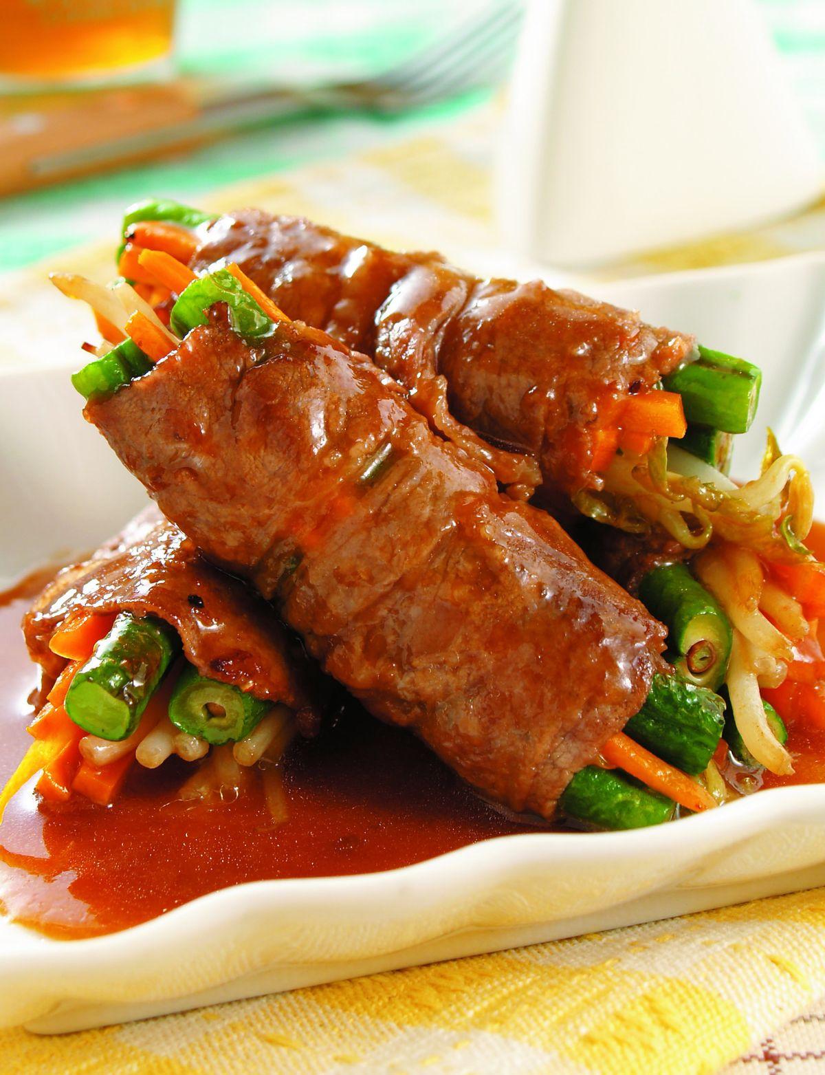 食譜:長豆肉卷