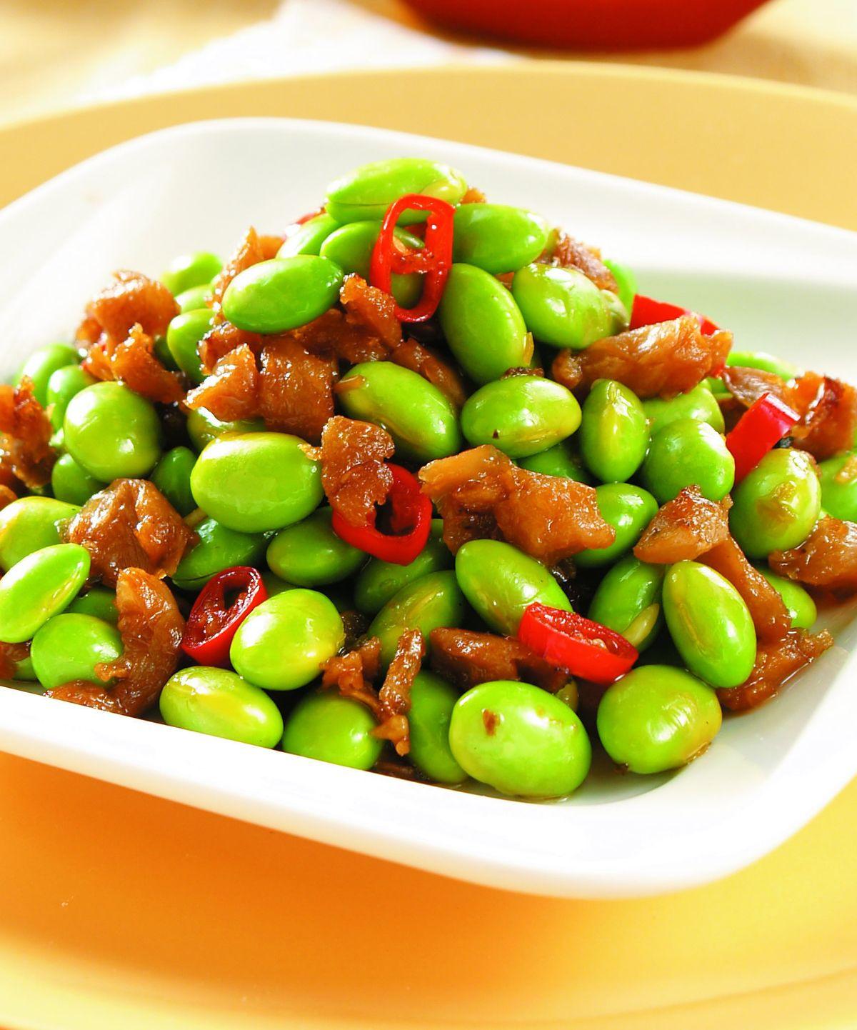 食譜:毛豆炒菜脯