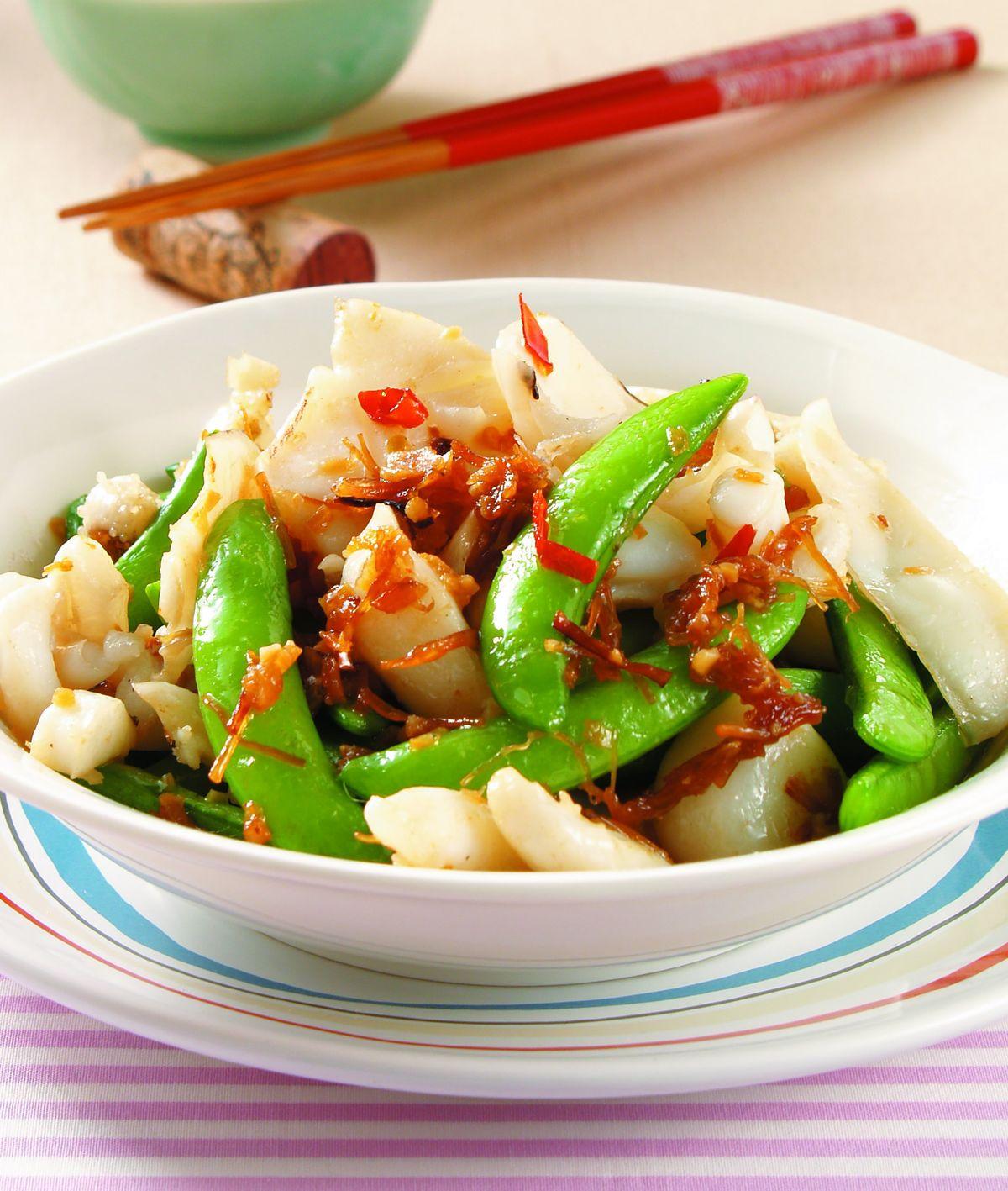 食譜:甜豆炒XO醬