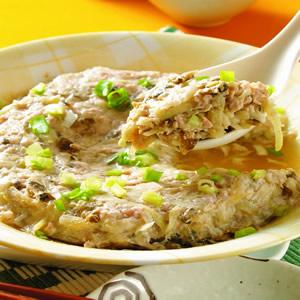 瓢瓜蒸肉餅