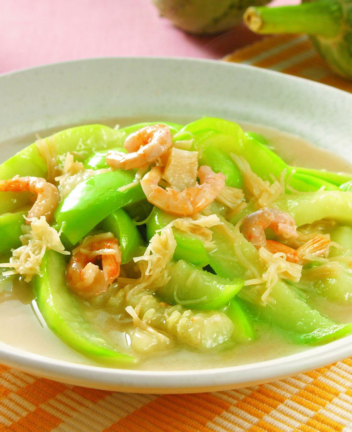 食譜:絲瓜干貝