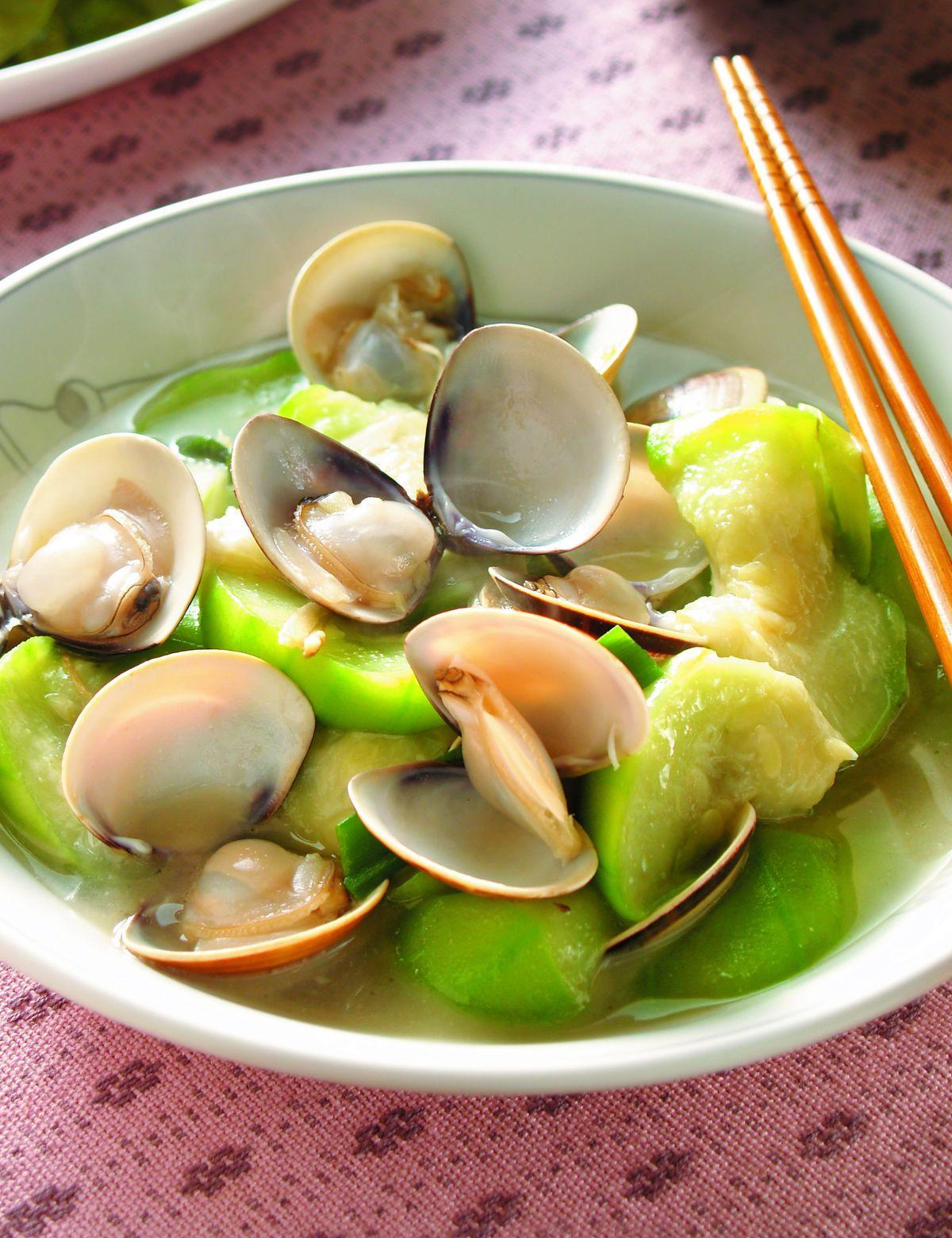 食譜:絲瓜蛤蠣