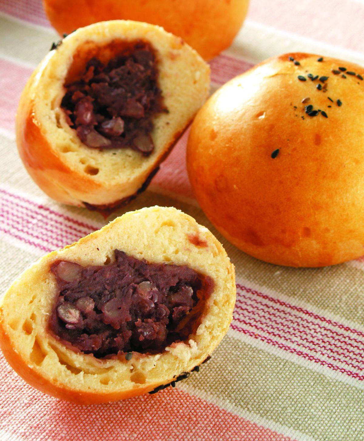 食譜:紅豆麵包(免發酵麵糰)