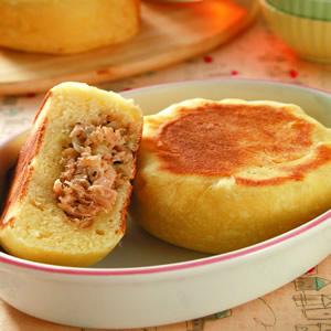洋蔥鮪魚麵包(免發酵麵糰)