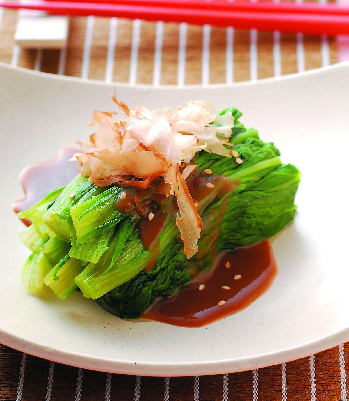 食譜:芝麻醬淋春菊