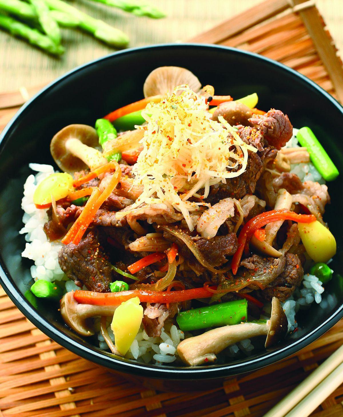 食譜:薑汁牛肉蓋飯