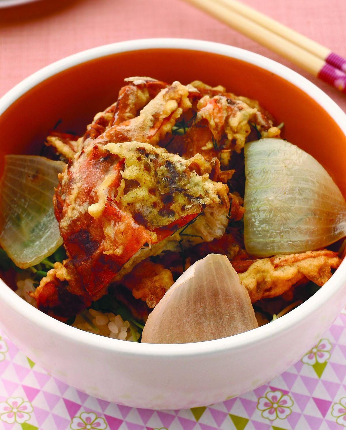 食譜:軟殼蟹蓋飯