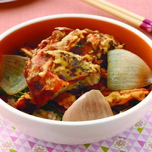 軟殼蟹蓋飯