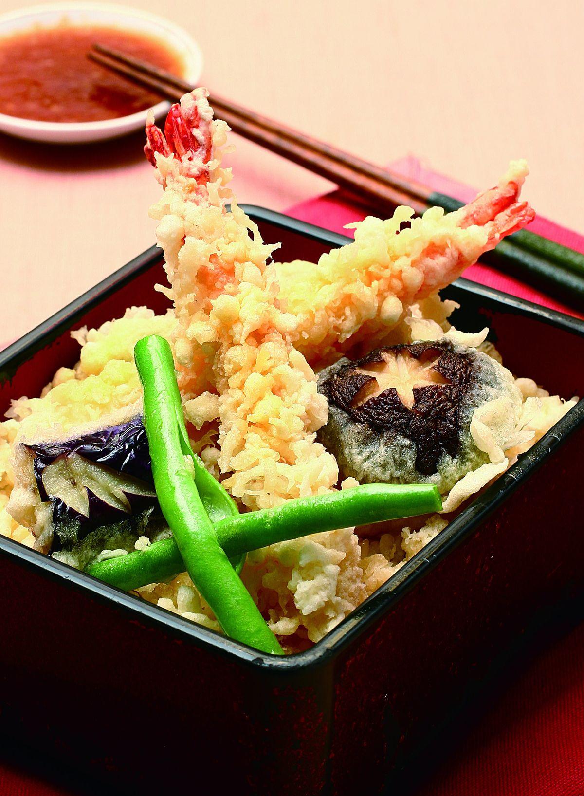 食譜:炸蝦蓋飯