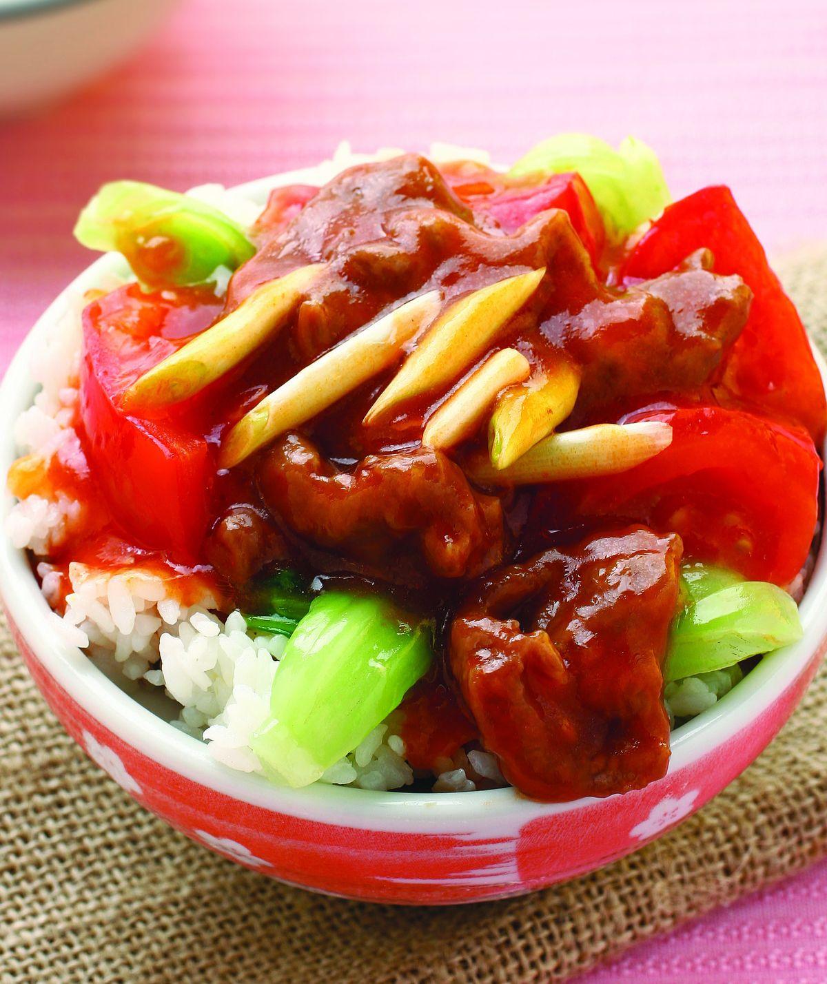 食譜:蕃茄牛肉蓋飯