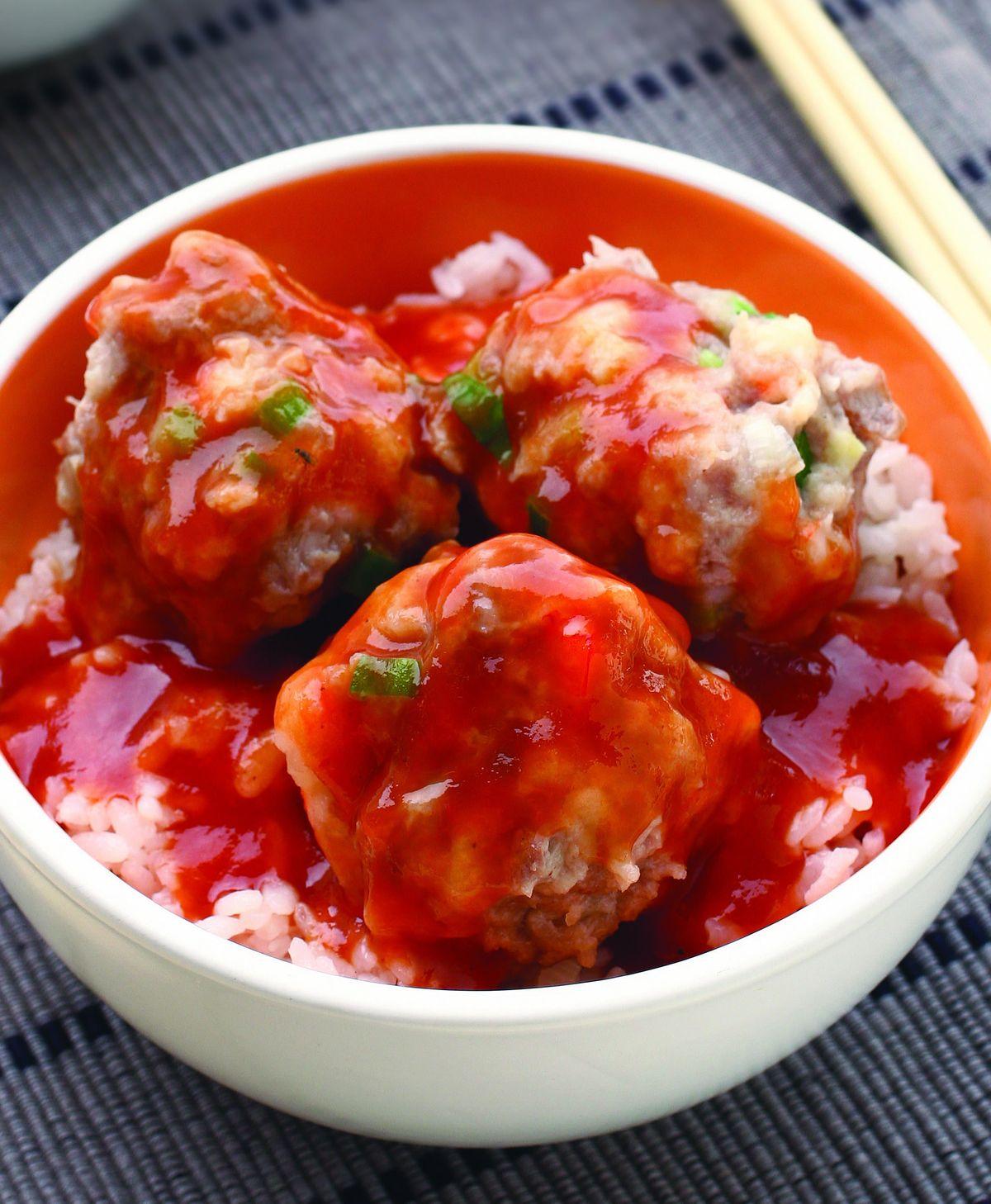 食譜:越式豬肉丸蓋飯