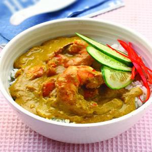 印度辣味蝦仁蓋飯