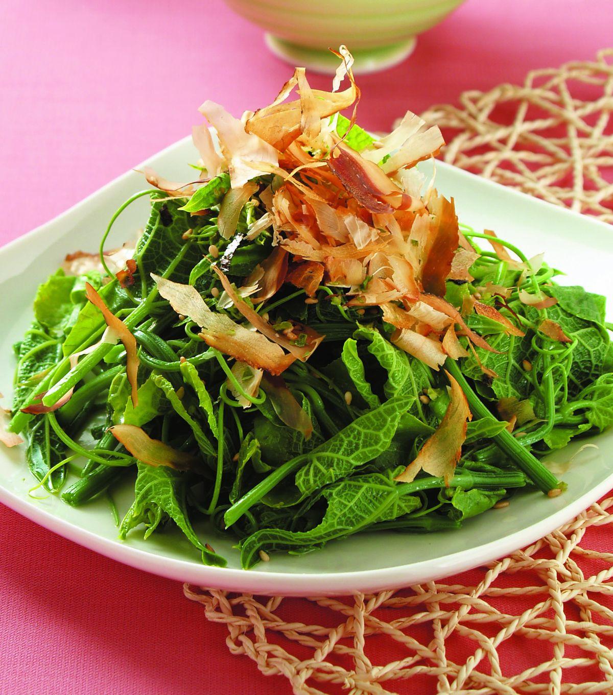 食譜:柴魚拌龍鬚菜