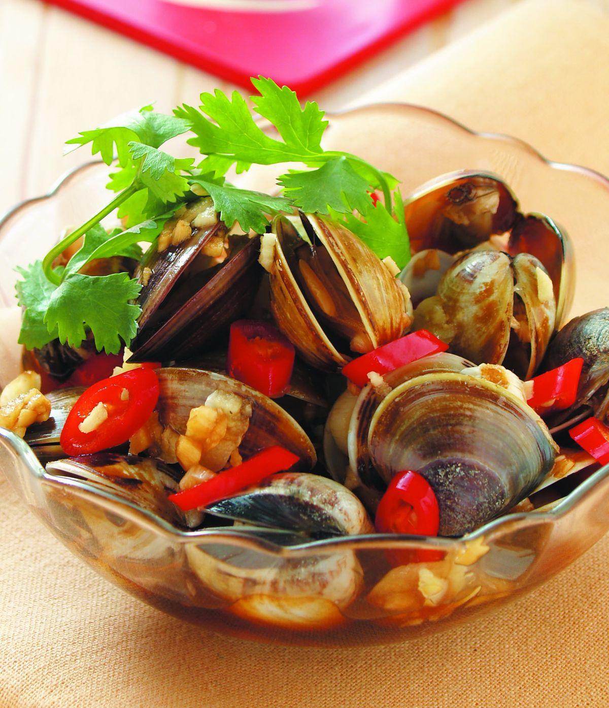 食譜:蒜味鹹蛤蠣