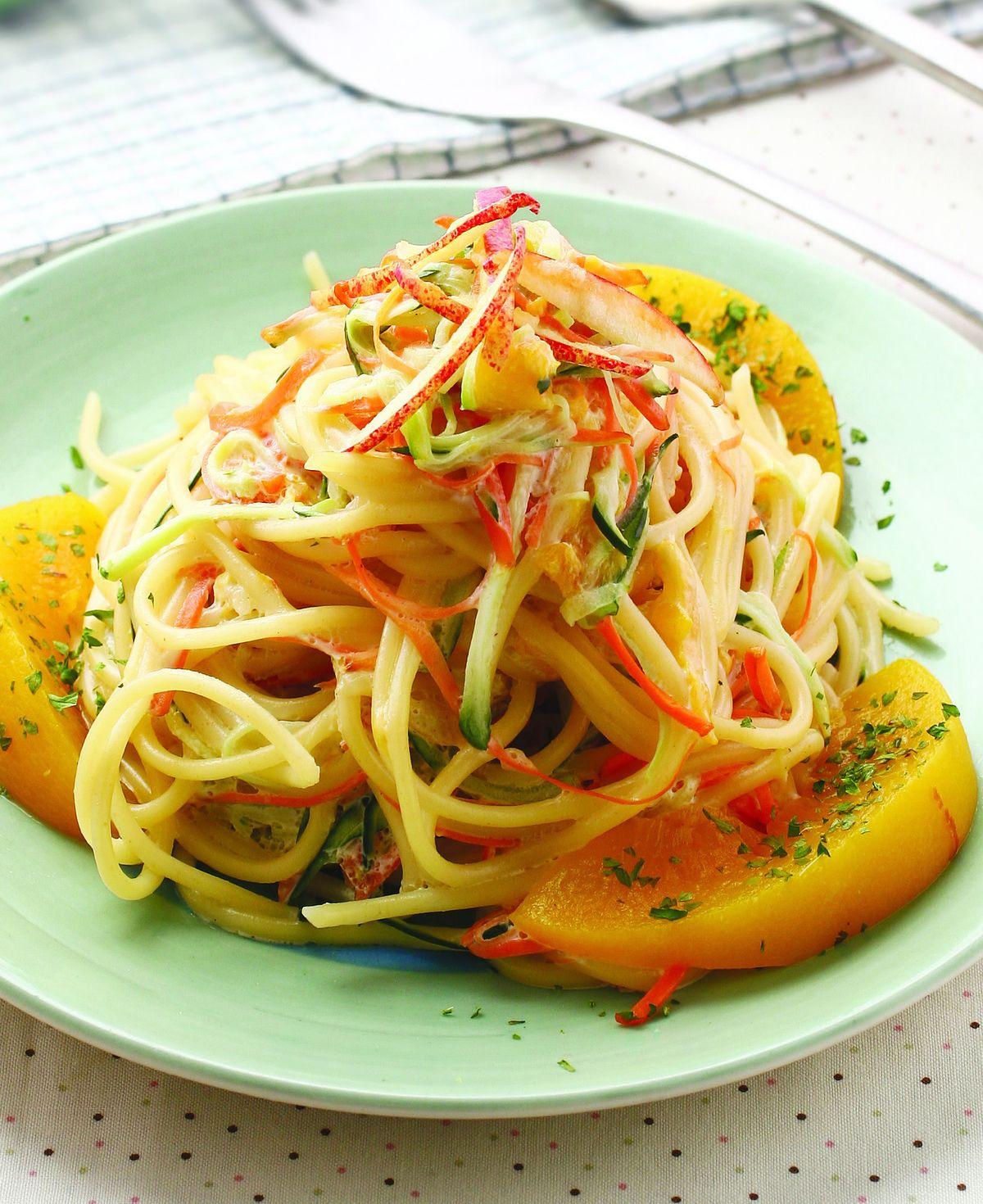 食譜:輕甜蔬果涼麵