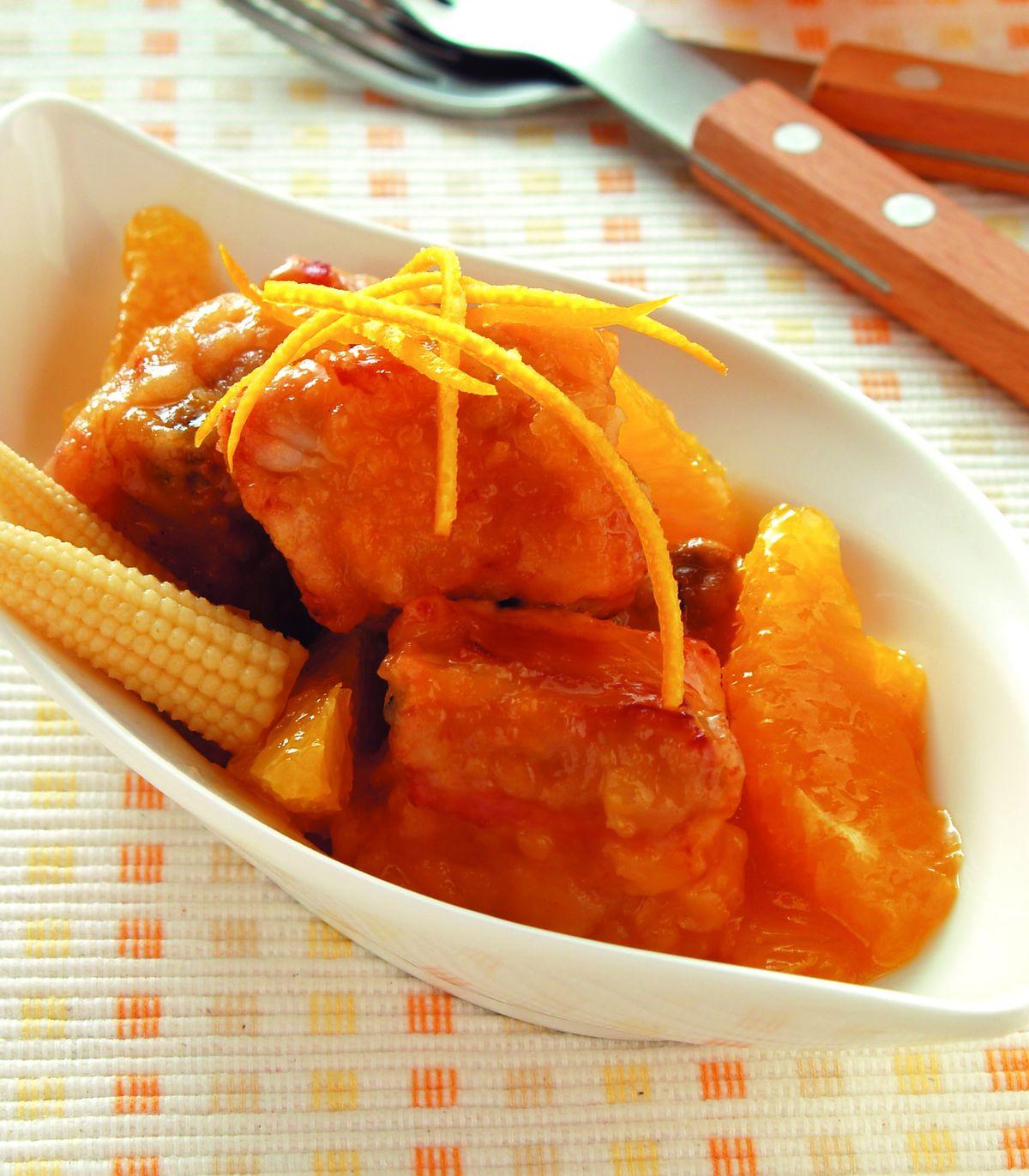 食譜:橙汁排骨(4)