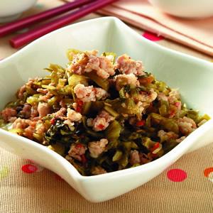 酸菜炒肉末