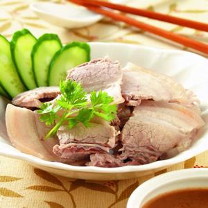 麻醬白切肉
