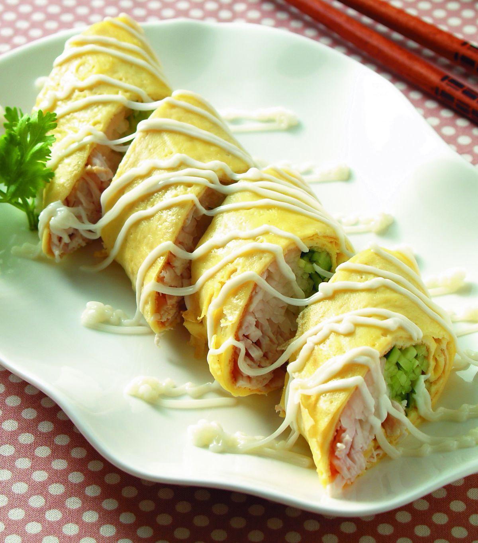 食譜:沙拉三絲蛋卷