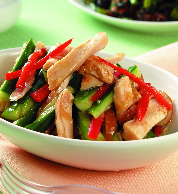 食譜:拌燻雞拌黃瓜