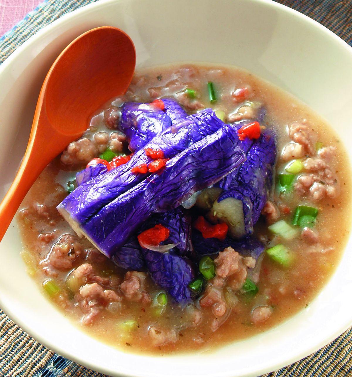 食譜:梅肉醬汁淋紫茄
