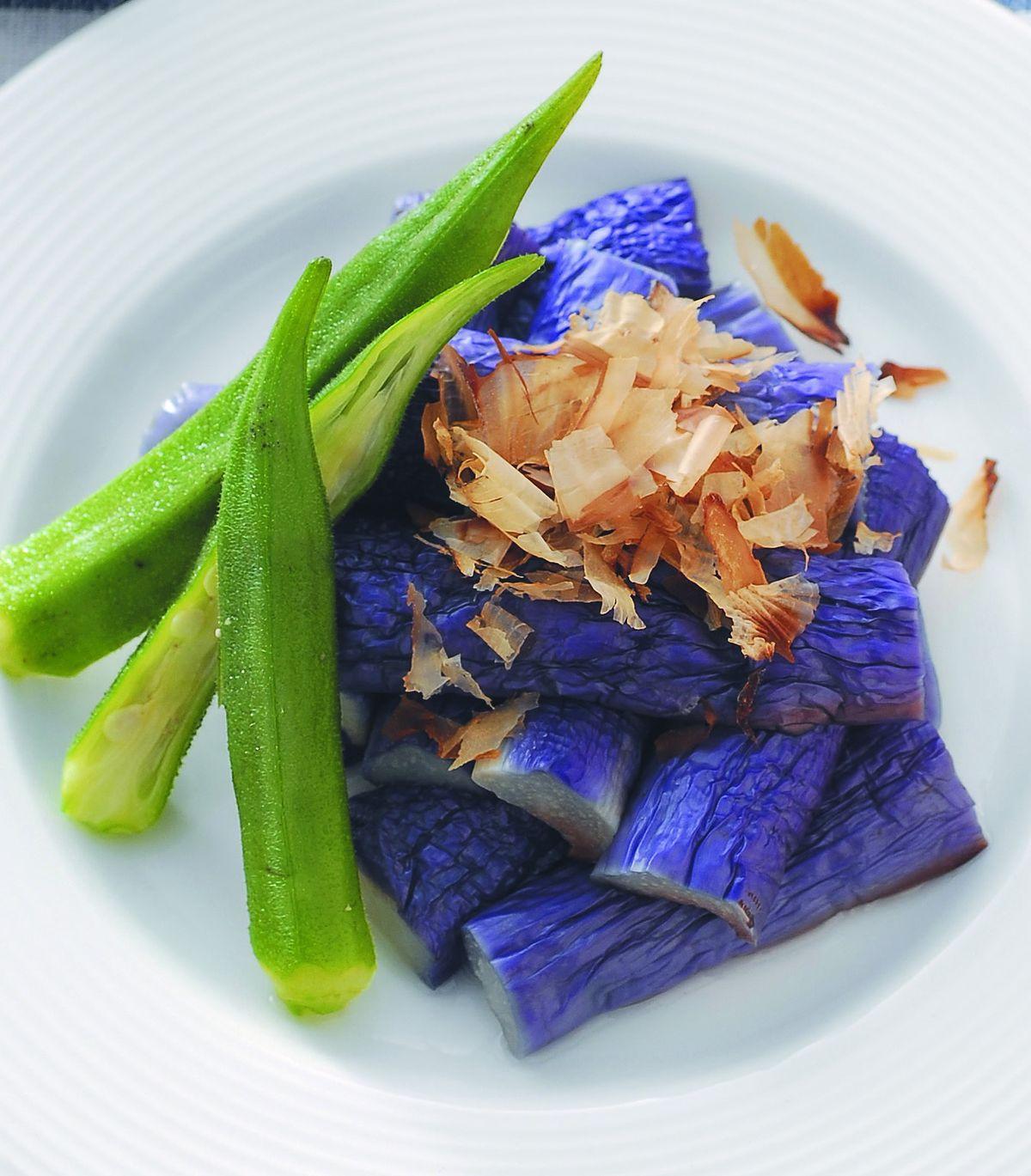食譜:芝麻醬淋紫茄