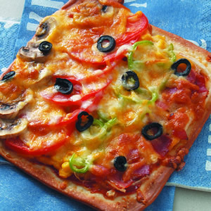 培根青蔬披薩