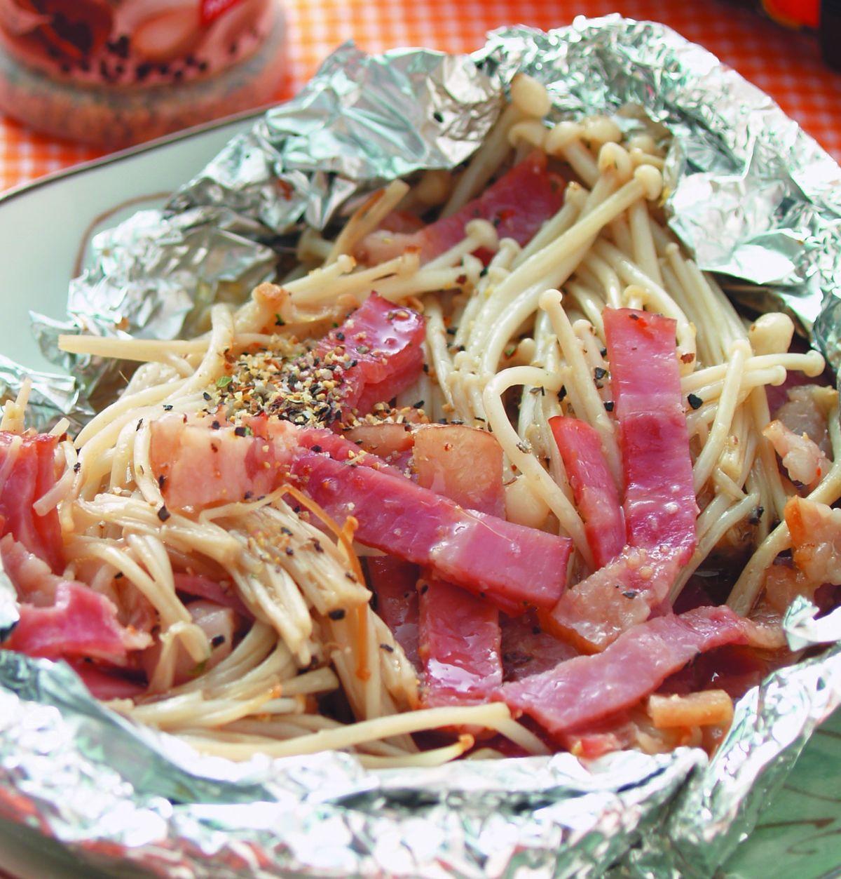 食譜:蒜香奶油金針菇